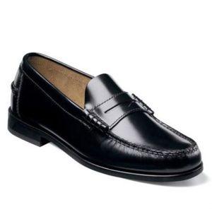 Florsheim Berkley Black Moc Toe Penny Loafers